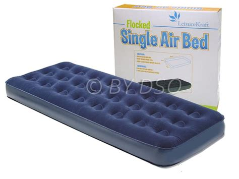 single air bed milestone cing flocked single air bed 185 x 72cm