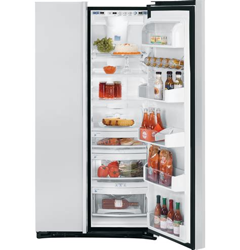 Ge Profile Refrigerator Cabinet Depth by Ge Profile Counter Depth 22 6 Cu Ft Stainless Side By