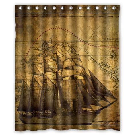 pirate ship shower curtain pirate bathroom decor