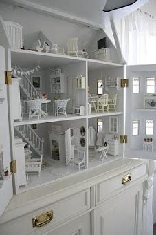 Amazing Dollhouse All White Front Opening Swoon Leluja Nukketaloja Pinterest