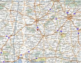 printable map of state road map of alabama road map