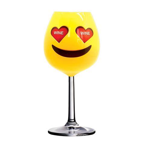 Xl Emoji Wine Glass