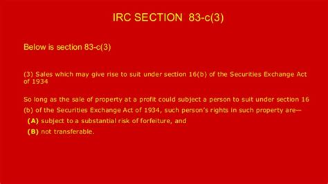 section 83 irc taxes on employee stock options irc section 83 c 3