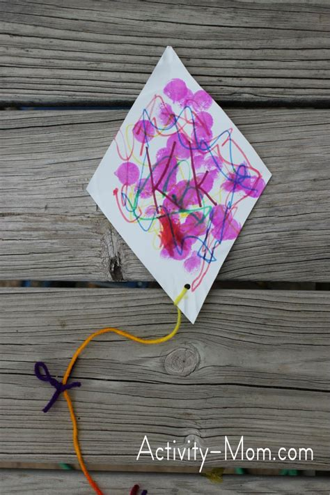 kite craft for the activity paper plate alphabet craft k is for