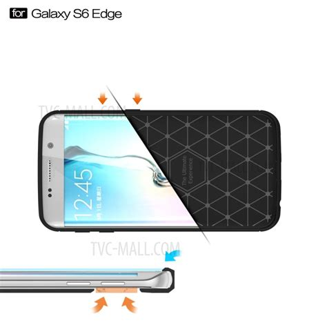 Softcase Carbon Fiber Samsung Galaxy S6 Egde G925 New R Limited carbon fibre brushed tpu for samsung galaxy s6 edge