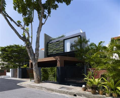 garden home architecture in singapore city center modern