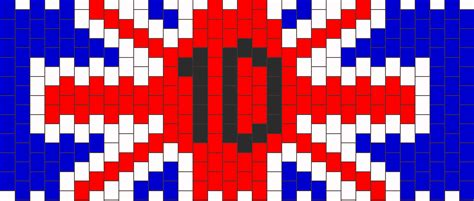 one direction perler one direction 1d flag pony bead patterns misc