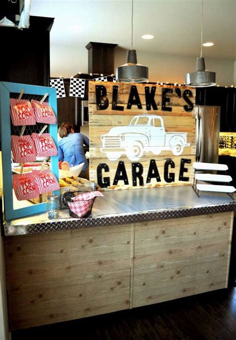 vintage garage themed birthday with such