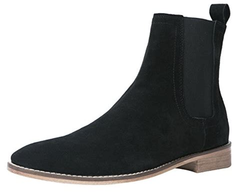 santimon chelsea boots suede casual dress boots ankle