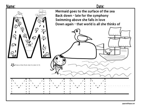 kindergarten coloring sheets letter m 14 best images of letter m activity worksheets preschool