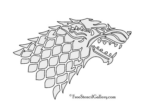 printable pumpkin stencils game of thrones game of thrones house stark sigil stencil 2 free