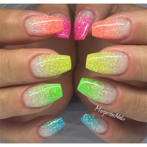 colorful nail 57 most beautiful glitter nail design ideas