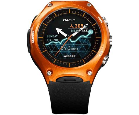 Casio Smartwatch Android casio wsd f10 is a ruggedized android wear smartwatch