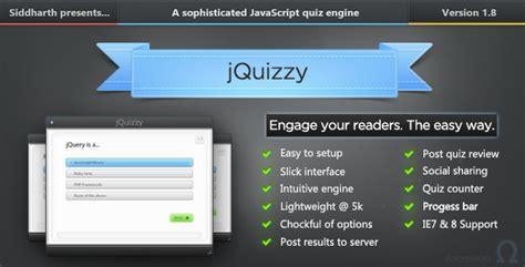 jquizzy classic premium quiz engine javascript