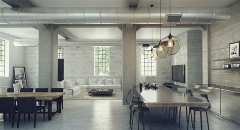 modern industrial interior design industrial lofts