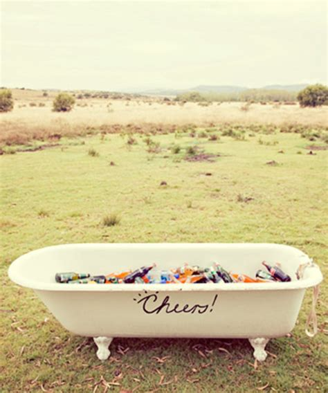 Bathtub Booze by How Every Wedding Will Be Serving Drinks This Summer