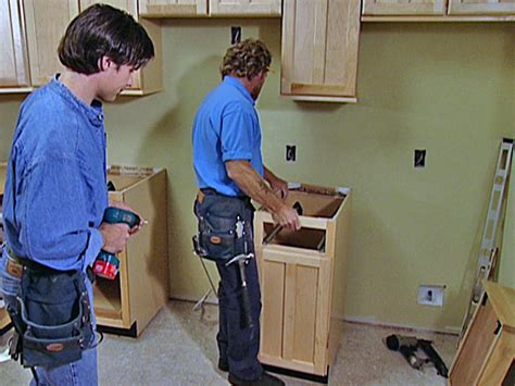 how to install lower kitchen cabinets how to replace kitchen cabinets how tos diy