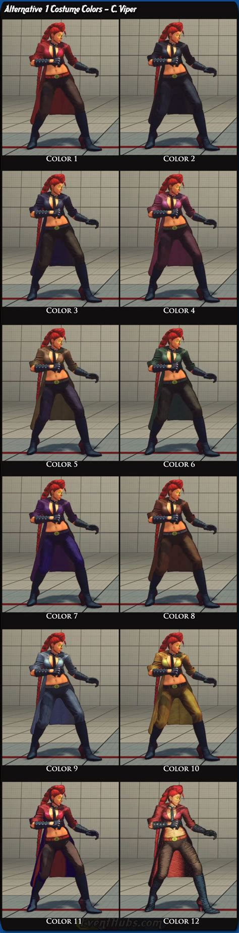 gief s a guide to fighter v third edition books costume and alternative colors for c viper in