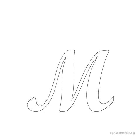 printable name stencils alphabet stencils cursive m to make pinterest