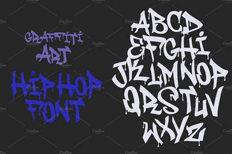 hip hop graffiti font white tag blackletter fonts