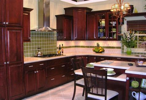 Stained Glass Kitchen Cabinet Doors by Classic American Cherrywood Kitchen In Silicon Valley Ca