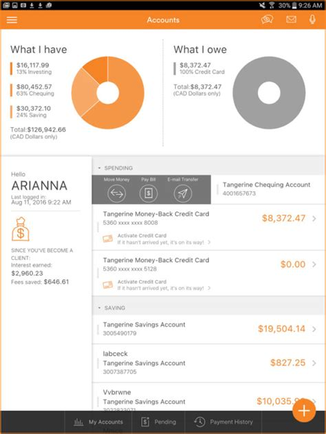 orange mobile account 19 awesome mobile banking apps from banks and credit unions
