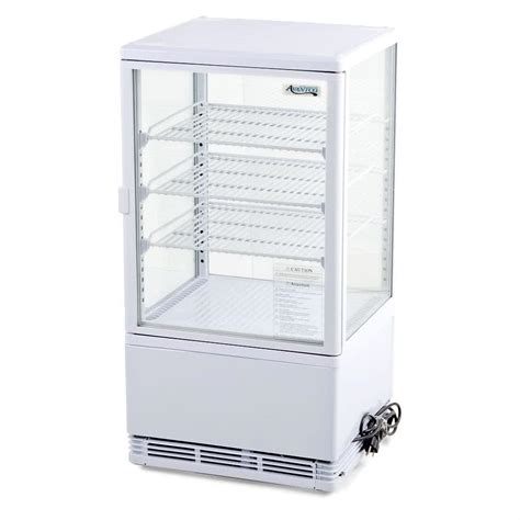 Countertop Fridge avantco fsg 3 four sided glass countertop beverage cooler 3 cu ft 115v
