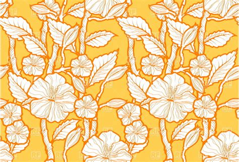 Seamless Floral Pattern Background Vector Graphic | seamless floral pattern with blossom flower royalty free
