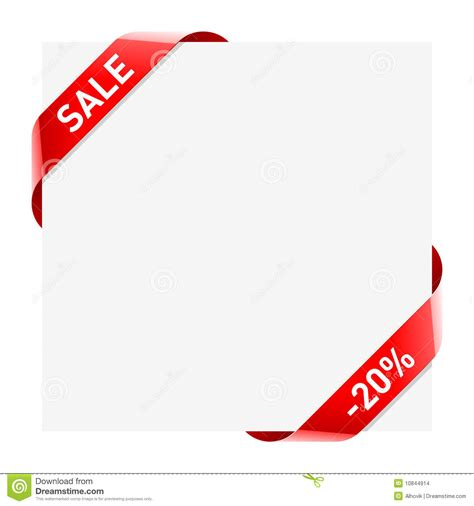 sale ribbons stock vector image of discount graphic
