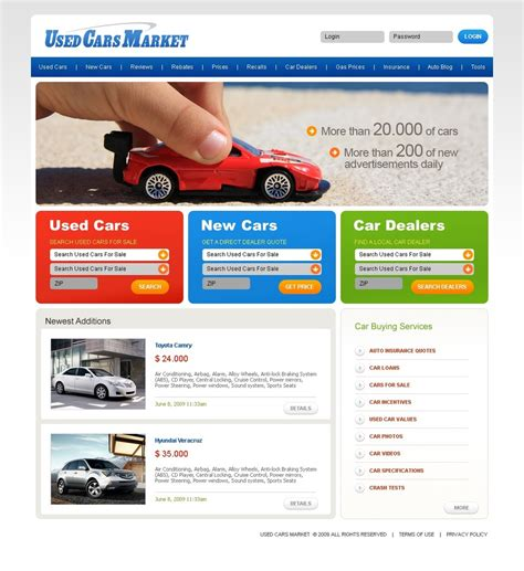 website templates for used cars used car market website template web design templates