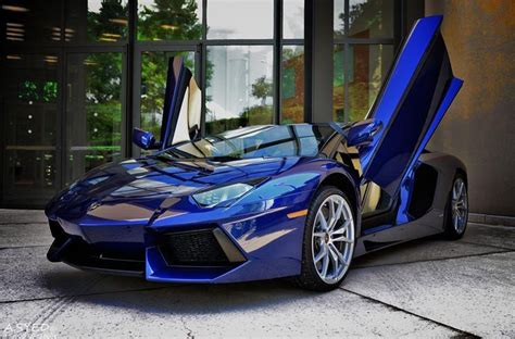 Lamborghini Aventador In Blue Royal Blue Lamborghini Aventador Roadster Cars