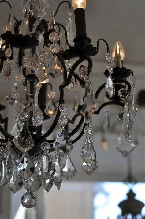 Black Chandelier Crystals Black Chandelier And Crystals Fab Decor