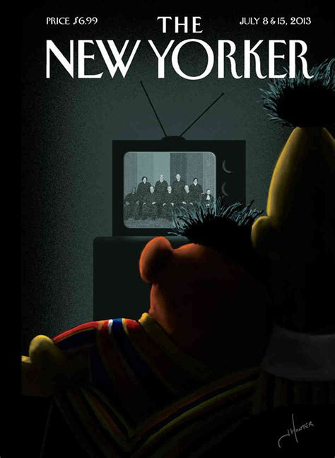 New Yorked see the new yorker cover that has talking the