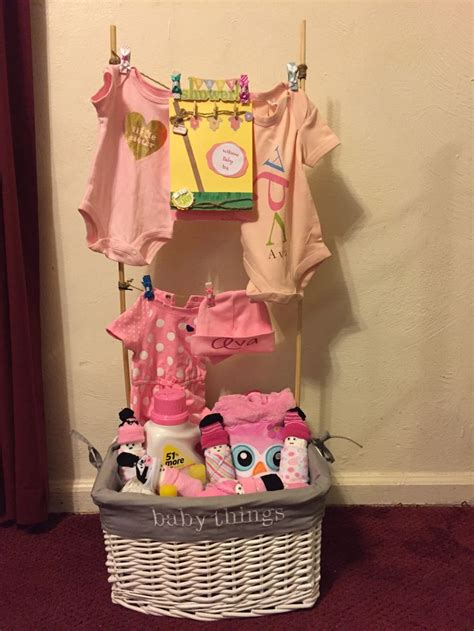 What To Put In A Baby Shower Gift Basket by 17 Best Ideas About Baby Shower Clothesline On