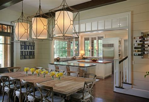 Houzz Kitchen Lighting Casual By The Lake Rustic Dining Room Other Metro By Splash Kitchens Baths Llc