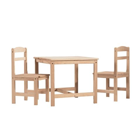unfinished childrens and chairs international concepts 3 piece unfinished children s