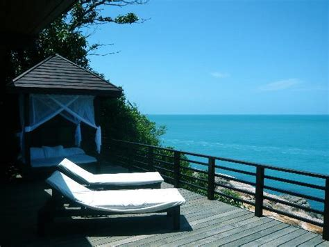 hideaway cottageのテラス picture of tongsai bay cottages