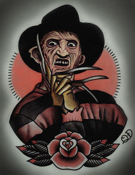tattoo nightmares halloween tr st freddy krueger nightmare on elm street tattoo art print