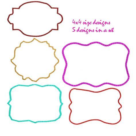 design frame outline embroidery frame designs set