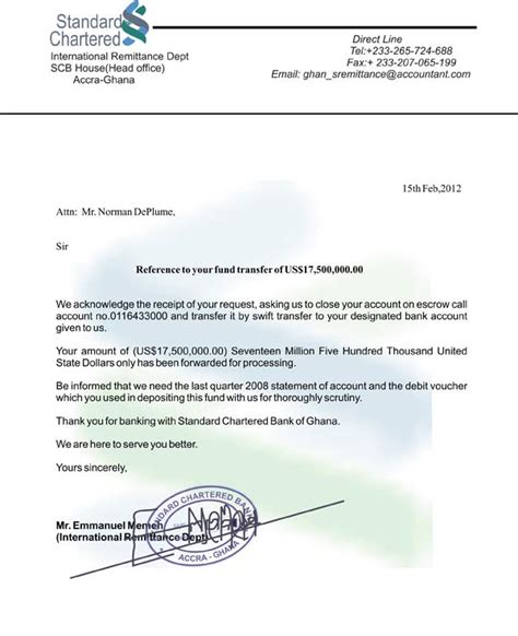 Zenith Bank Letter Headed Paper Mr Kwame Mrs Trellis Scambuster