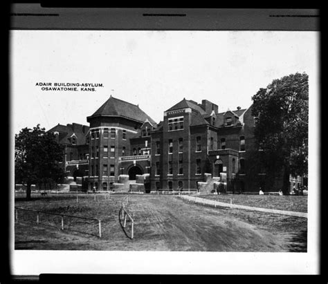 State Of Kansas Records View Of The Adair Building At The Osawatomie State Hospital Osawatomie Kansas