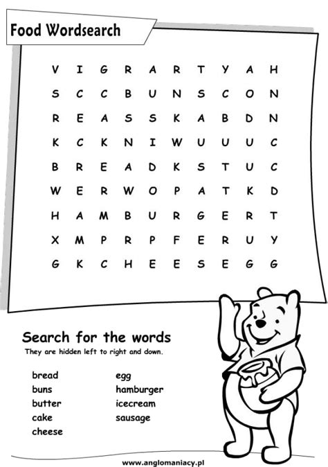 english for primary students fun english kids infant and primary worksheet food