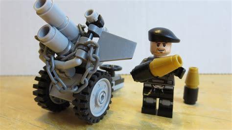 lego ww2 tutorial lego tutorial mini howitzer artillery cannon youtube