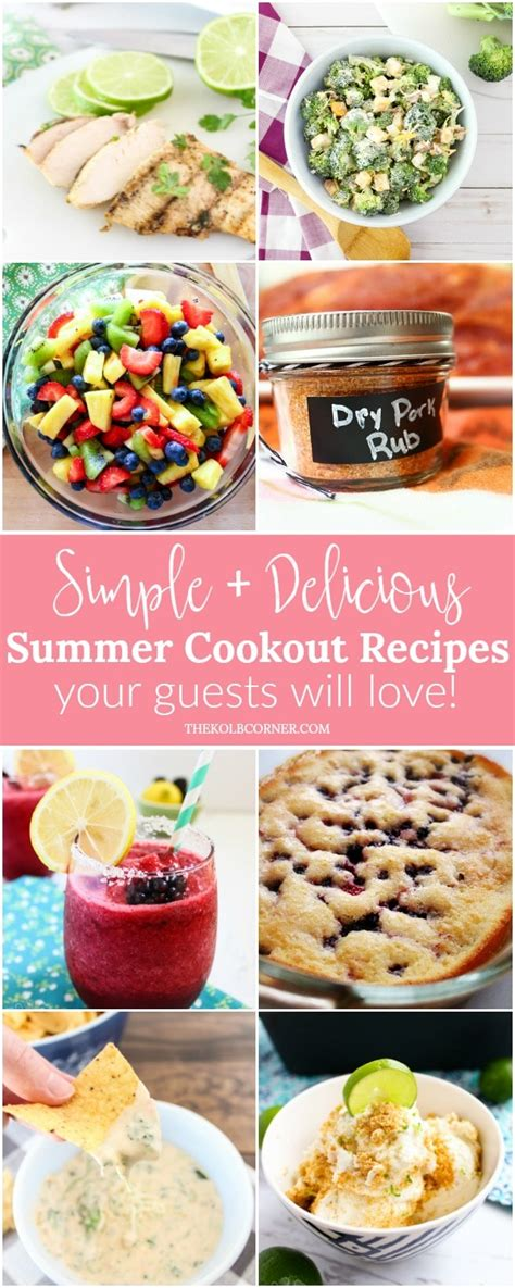 simple and delicious summer cookout recipes domestically