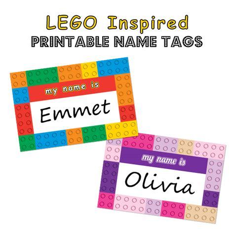 easy printable name tags my daughter is going to be olivia of lego friends for