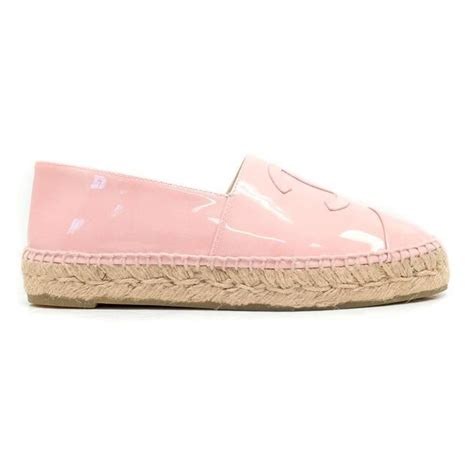 chanel pink patent espadrilles for sale at 1stdibs