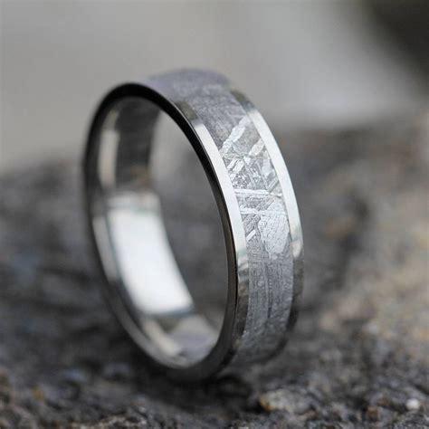 15 ideas of men s wedding bands meteorite