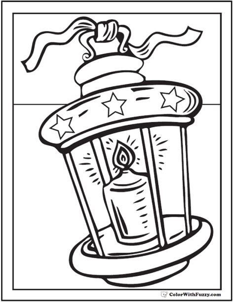 Christmas Coloring Pictures Lantern Coloring Page
