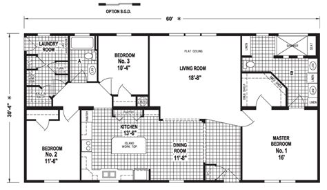 crown homes floor plans catlin 30 x 60 1820 sqft mobile home factory expo home
