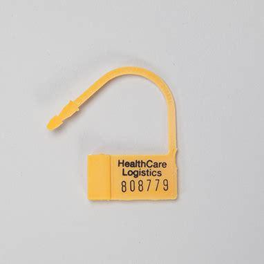 item 7687 heavy duty padlock seals numbered yellow